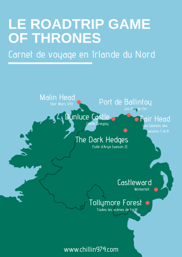 game of thrones irlande du nord